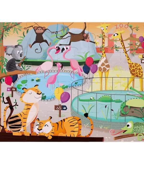 Janod – Tapintható puzzle – Egy nap az állatkertben