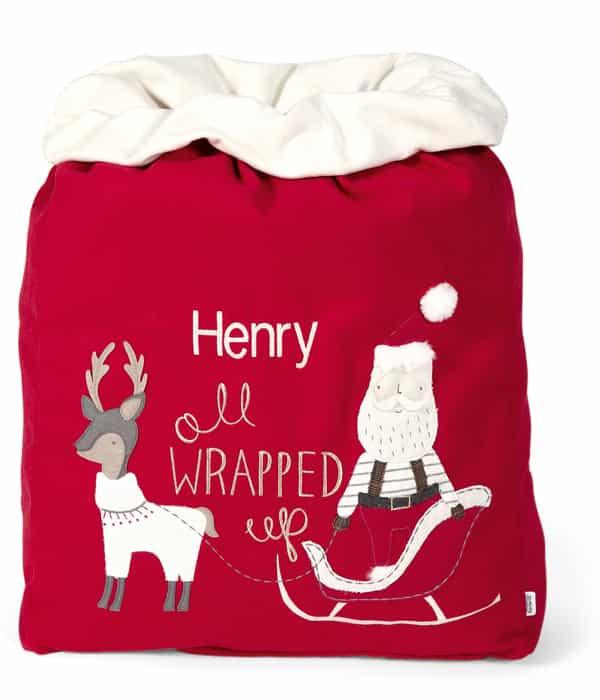 Óriás Mikulásos karácsonyi zsák