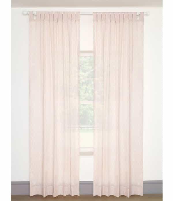 Függöny (105×220) – Rózsaszín voile