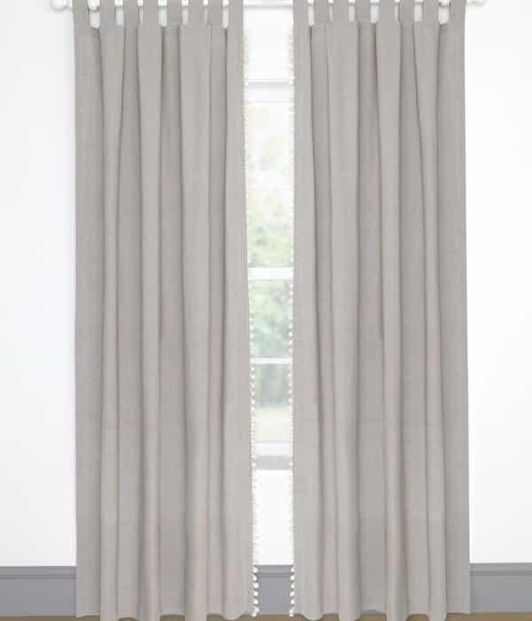 Függöny (132×220) – Szürke pompom