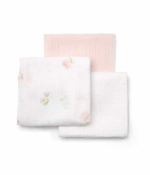 Nagy méretű textilpelenka (3 db/csomag) – Pink