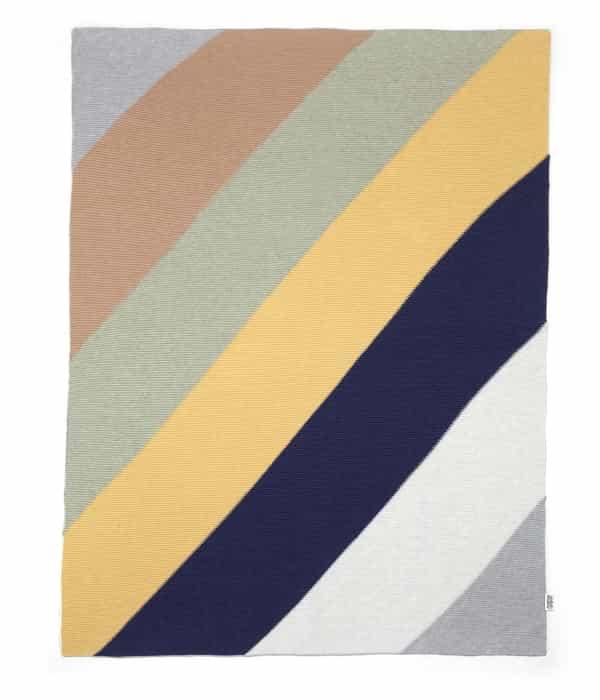 Kötött takaró – Kék diagonális