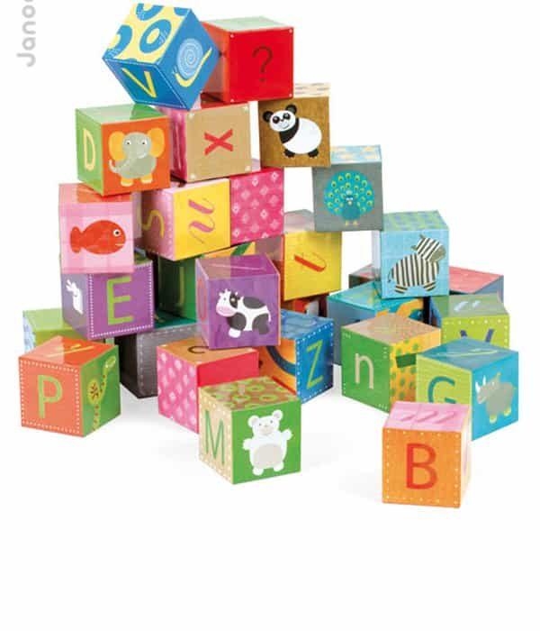 Janod kocka puzzle 32db -abc