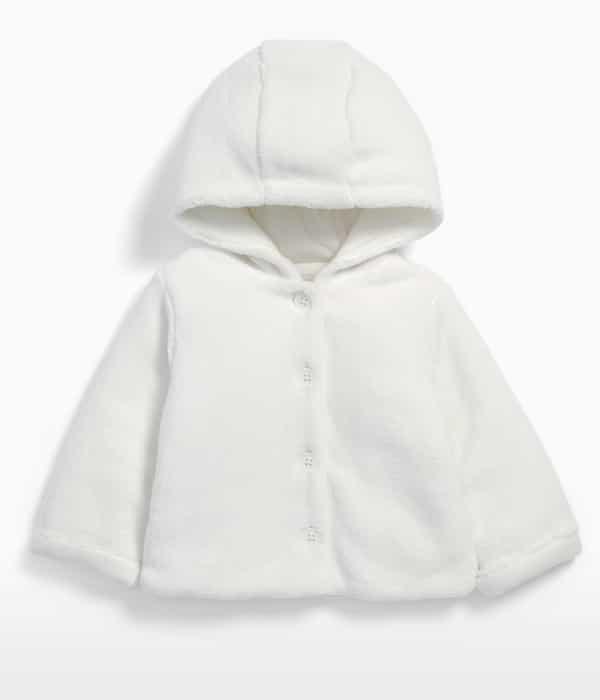 Kapucnis plüss kabát
