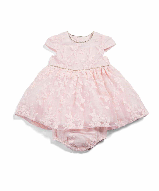 Rózsaszín hímzett ruha