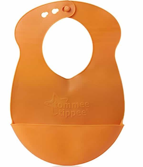 tommee tippee roll n go műanyag etető előke