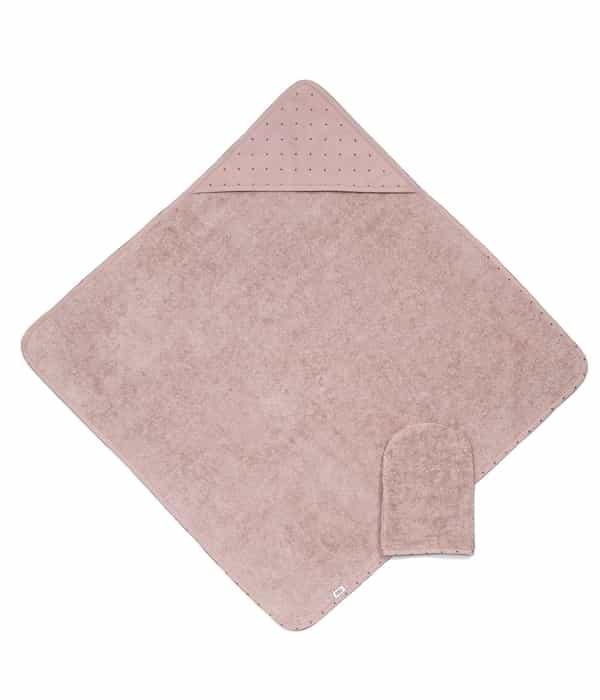 Kapucnis törölköző és kesztyű – Pink
