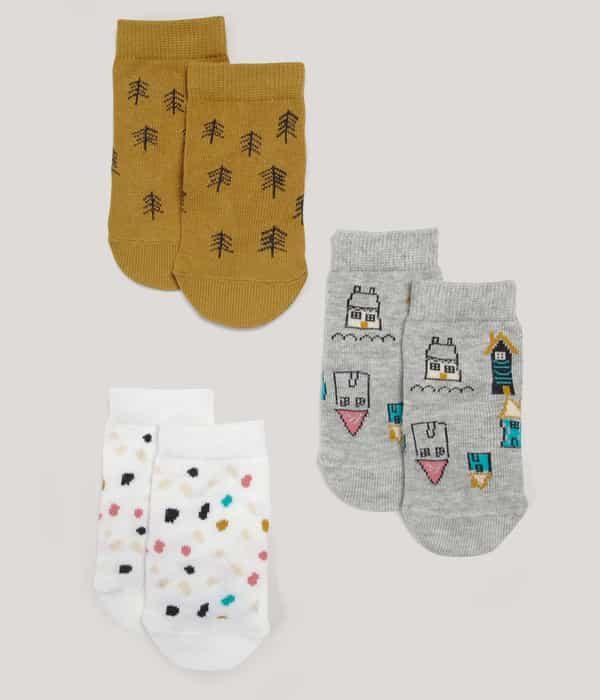 Mintás zokni – 3db