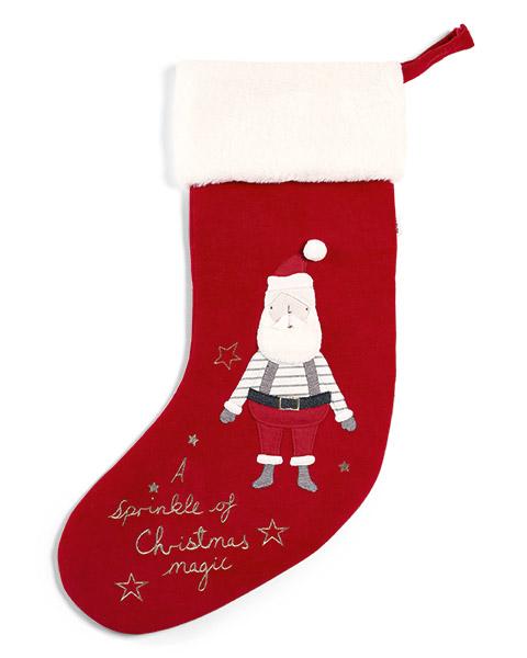 Karácsonyi zokni – nagyméretű, télapós