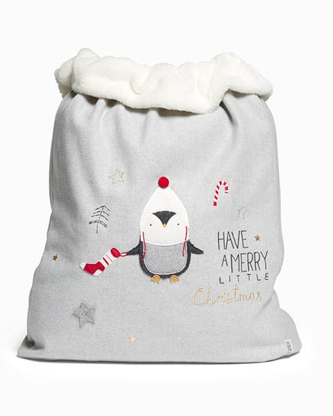 Óriás karácsonyi játéktárolózsák – pingvines