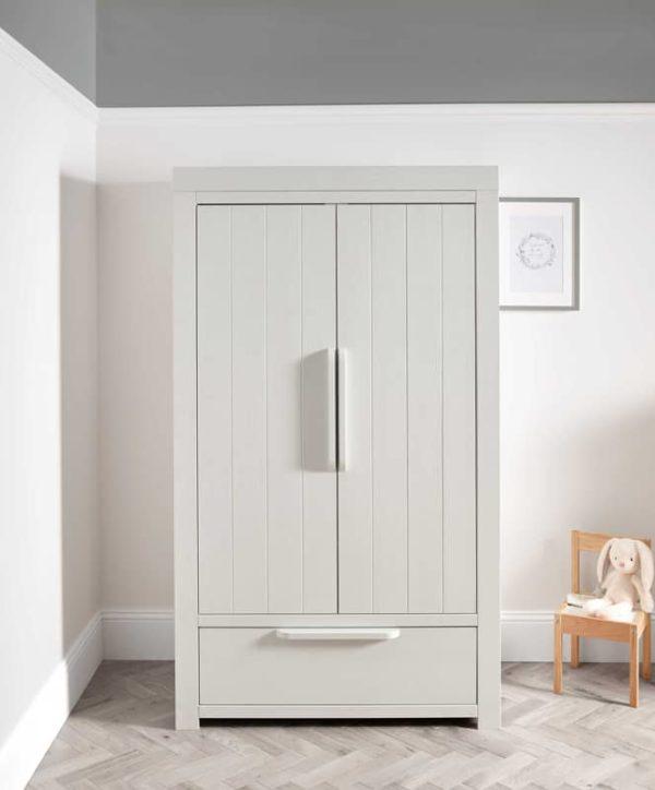 Franklin szekrény - Mosott fehér