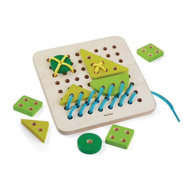 Plan Toys - Fűzős tábla