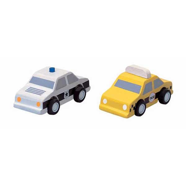 Plan Toys - Taxi és rendőrautó szett