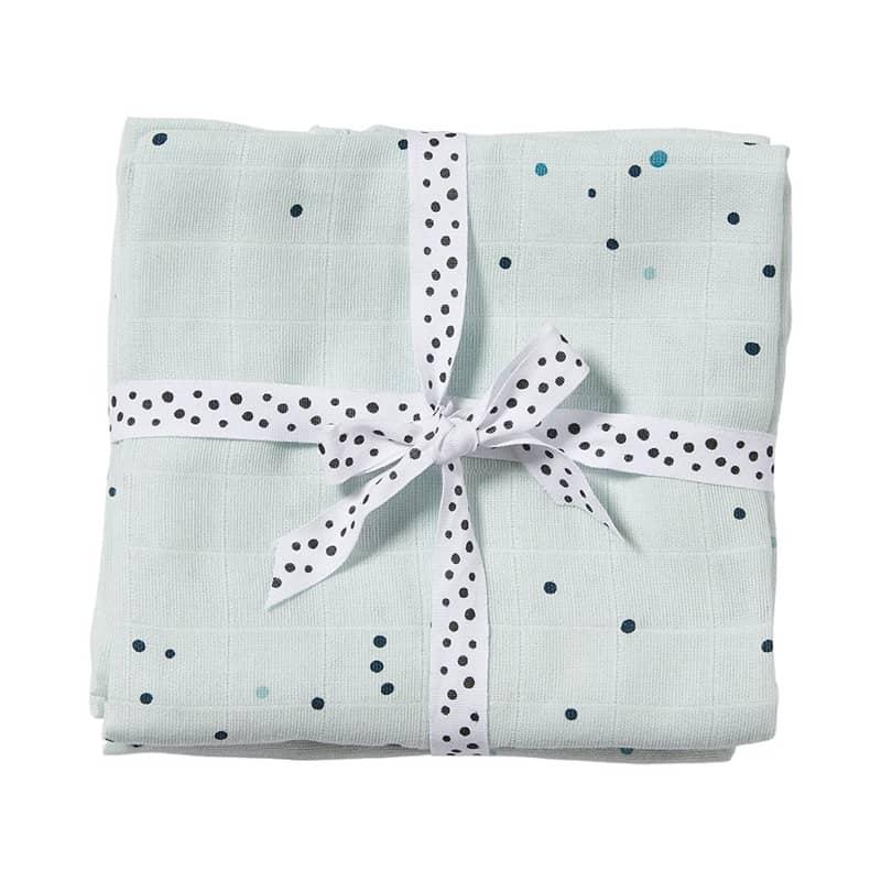 Done by Deer Textil pelenka, 2db, Dreamy dots, kék