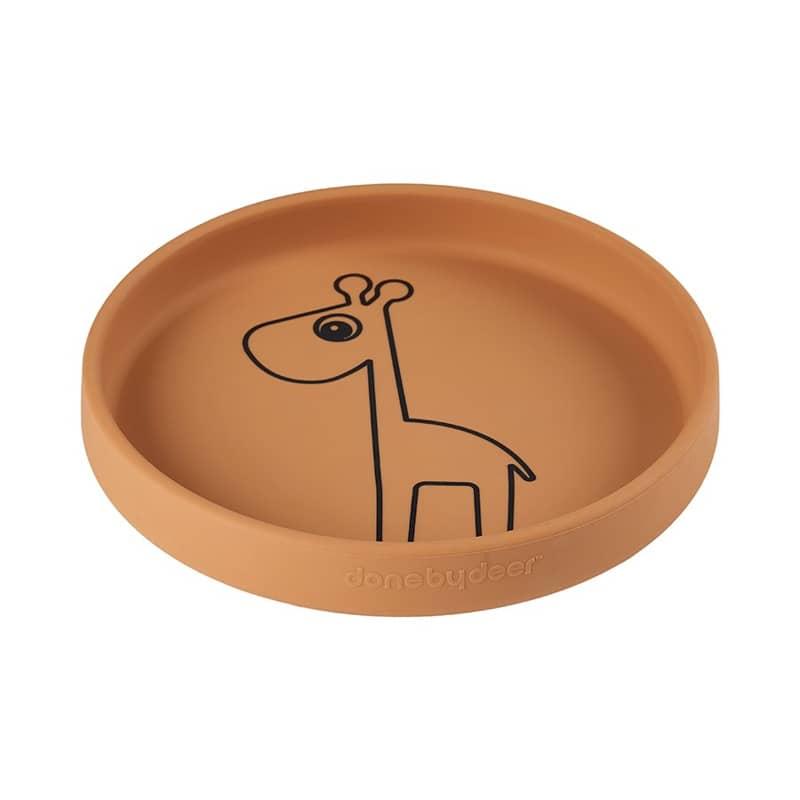 Done by Deer szilikon tapadós tányér, Raffi, mustár