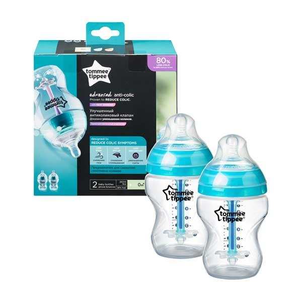 tommee tippee BPA-mentes Anti-colic cumisüveg duó, türkiz, 150 ml