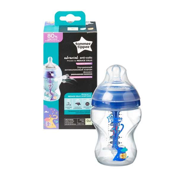 tommee tippee BPA-mentes Anti-colic plus cumisüveg, türkiz, 260 ml (másolat)